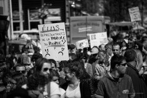 2015 - Mobilisation et manifestations à Savigny. Brocante