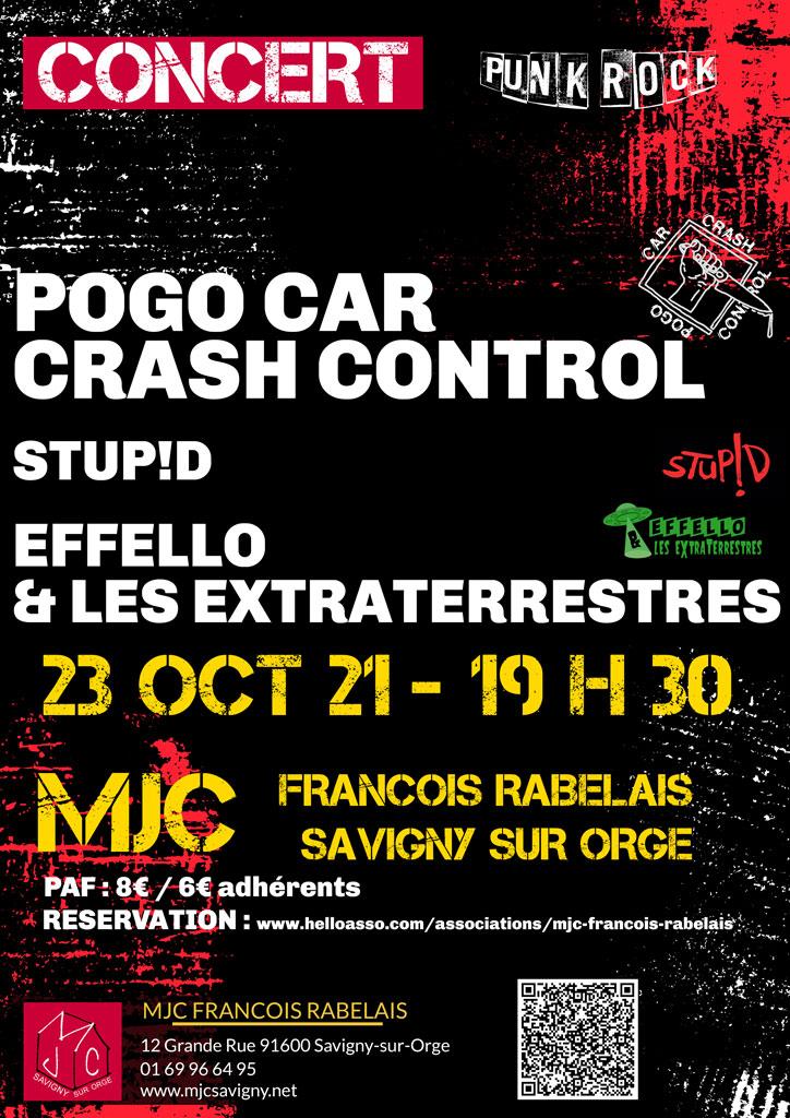 Concert Punk Rock le samedi 23 octobre 2021 à 19 h 30