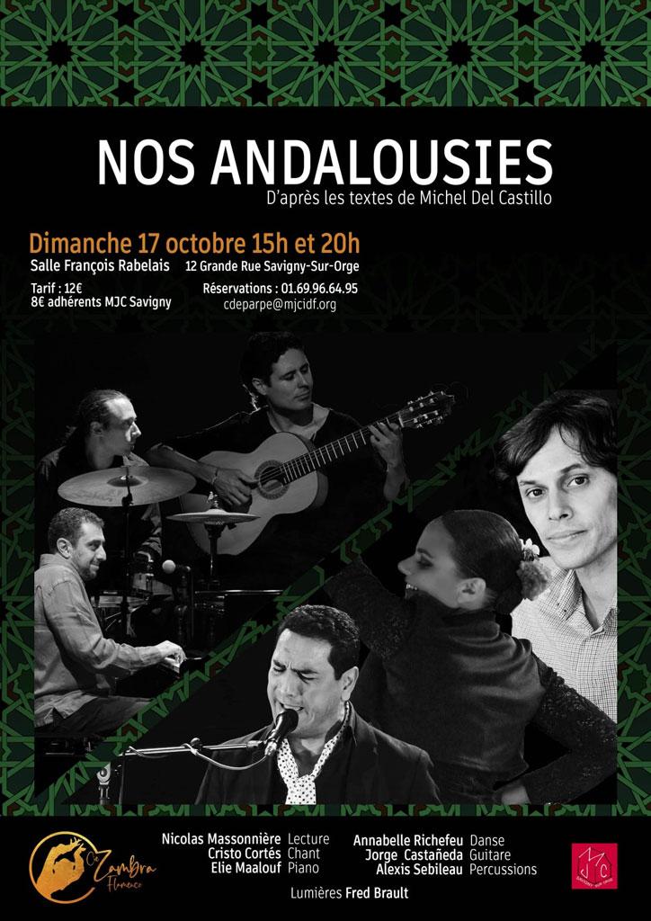 Nos Andalousies avec la Cie Zambra le dimanche 17 octobre 2021