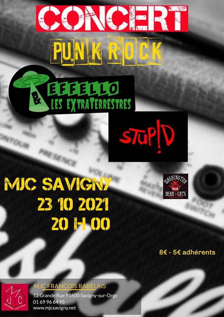Concert Punk Rock le samedi 23 octobre 2021
