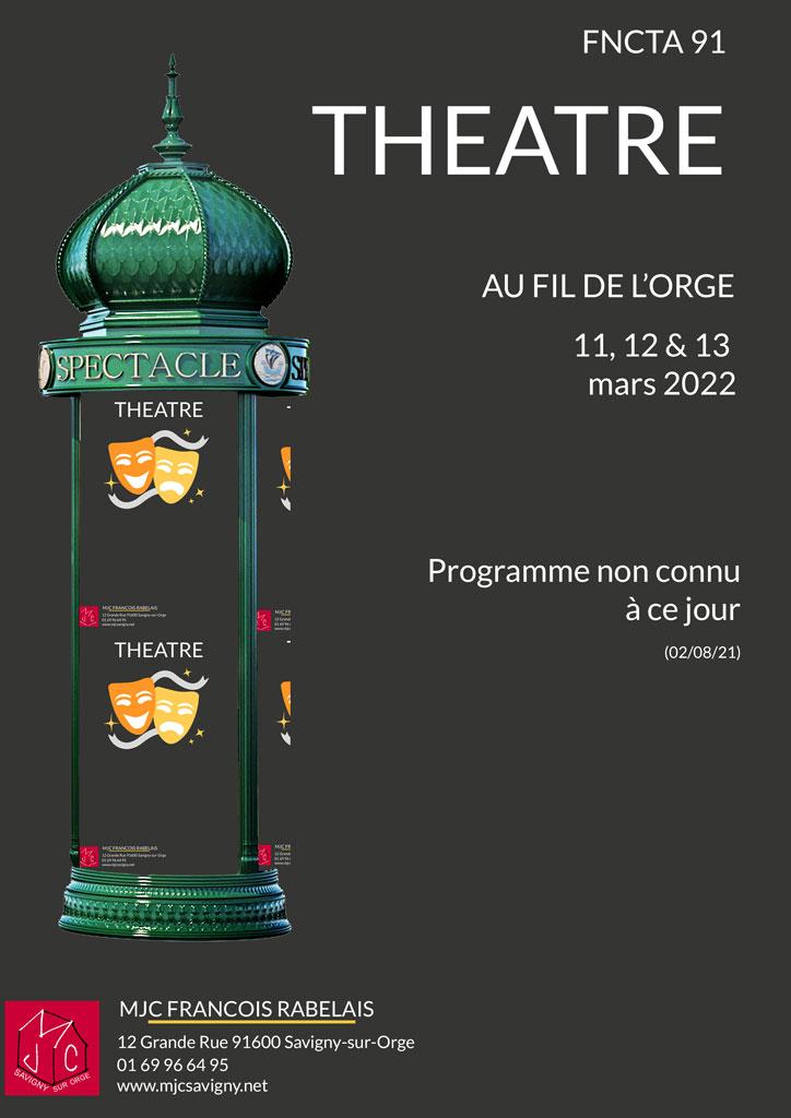 Théâtre au fil de l'orge, le 11 mars 2022 à 20 h 00